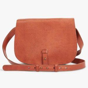 Lucky Brand - Leather Cross Body Bag - COGNAC